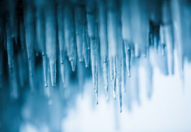 ice icicles warming thaws