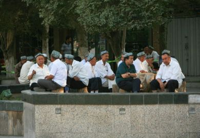 Outside Xinjiang mosque Uighur
