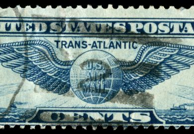 Transatlantic US postage stamp