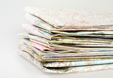 Pile of maps
