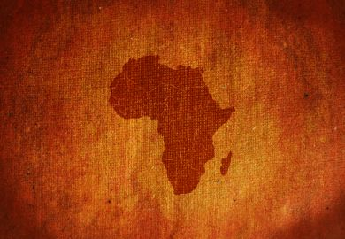 Africa map on canvas