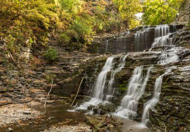 Cascadilla Gorge Waterfalls at Cornell University Plantations