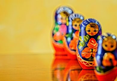 Russian dolls of different sizes