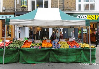 Market stall in Brick Lane, London