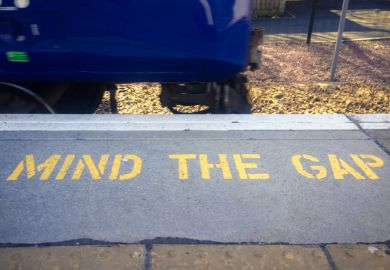 Mind the Gap sign on the Tube