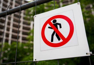 Construction site warning