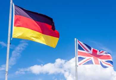 British and German flags