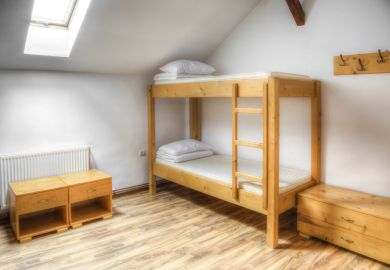 Bunk bed at university