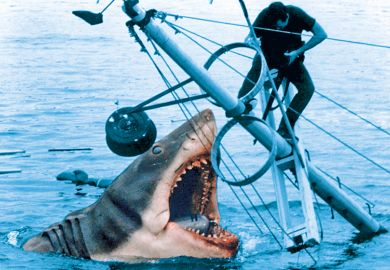 Filming scene from Jaws