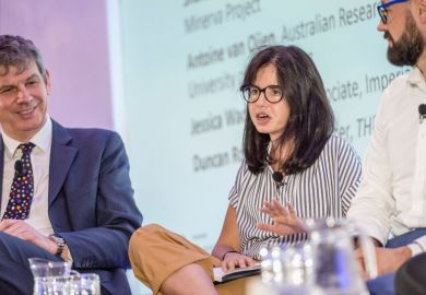 Jess Wade speaking at the Young Universities Summit