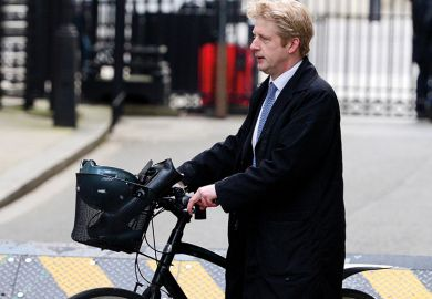 Jo Johnson on his bike