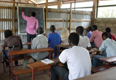 Kenyan students studying in class