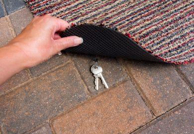 Keys under mat