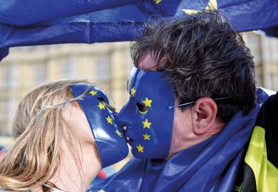 Kissing in EU masks