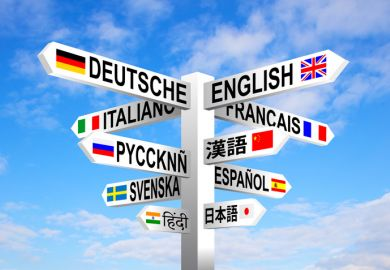 Languages signpost