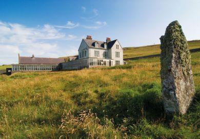 Leagarth House, Fetlar, home of Sir William Watson Cheyne