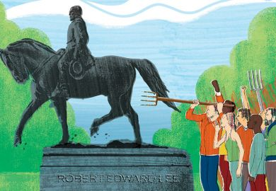 Robert Lee statue illustration