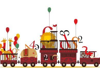 Letter circus train