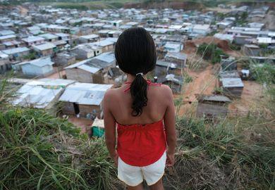 life in colombia slum