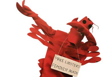Lobster with protest sign