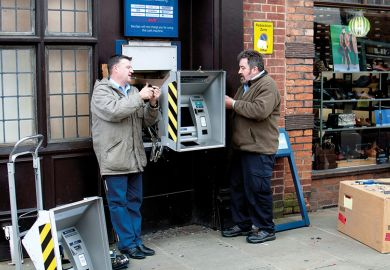 removing cash machine from wall
