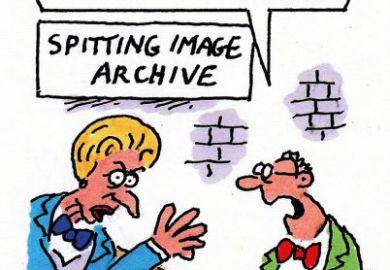 Maggie Thatcher Spitting Image cartoon