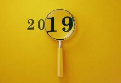 Magnifying glass on 2019