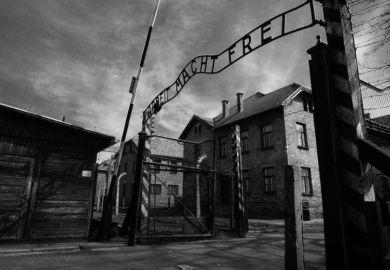 Main gate of Auschwitz-Birkenau concentration camp