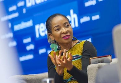 University of Cape Town (UCT) vice-chancellor Mamokgethi Phakeng at the Leadership and Management Summit, City University of Hong Kong, 18-9-19