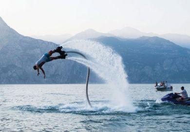 Man falls from flyboarding