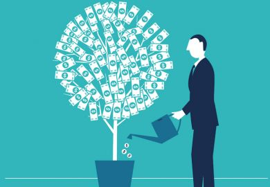 man-watering-money-tree-illustration