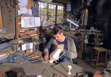 Man working in studio