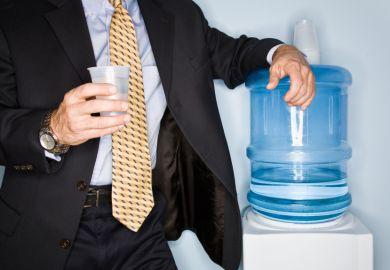 Man at water cooler