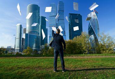 Man throws paper