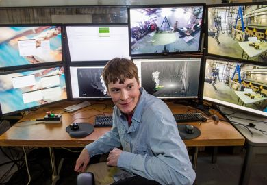 Man sitting at a computer