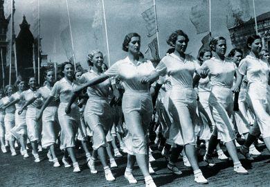 Marching women