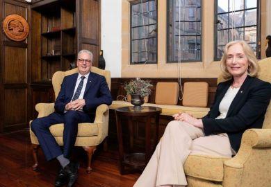 University of Sydney vice-chancellor Mark Scott chancellor Belinda Hutchinson