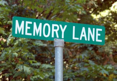 'Memory Lane' road sign