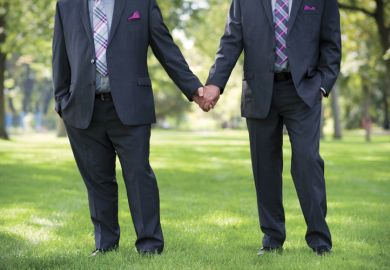 Men holding hands, same sex marriage