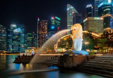 Merlion statue, Singapore