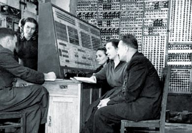 MESM (small electronic calculating machine) team, Theophania, near Kiev, 1952