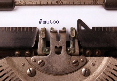 MeToo on typewriter