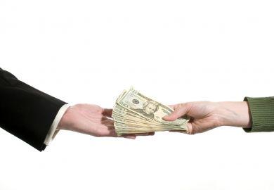 Money exchanging hands