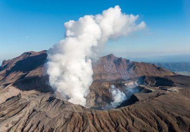Mount Aso Kumamoto Kyushu Japan volcano crater