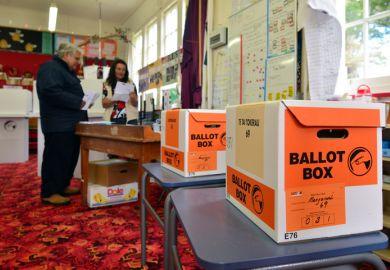 New Zealand ballot boxes