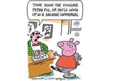 Cartoon of pig