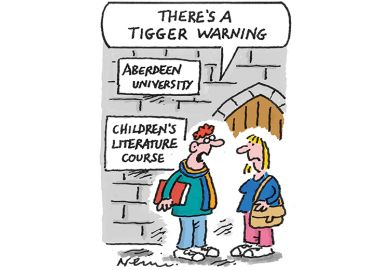 Tigger warning cartoon for Week in HE