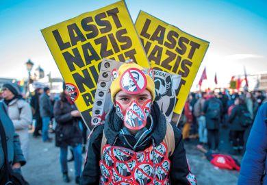 Austrian protester