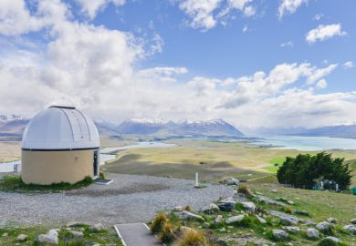 University of Canterbury Mt John Observatory in Tekapo, New Zealand