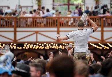 Crowd at German beer fest